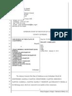 FELONY COMPLAINT AGAINST CALIF ATTORNEYS WHO FILED FALSE RECORDINGS AND FALSE COURT DOCUMENTS -JAN 2014- FROM AG KAMALA HARRIS -FORECLOSURE FRAUD TASK FORCE