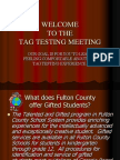 testing parent meeting ppt