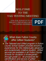 testing parent meeting ppt