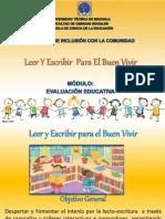 PRESENTACIÓN DE PROYECTOS DE EVALUACIÓN EDUCATIVA