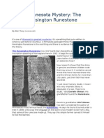 A Minnesota Mystery- The Kensington Runestone