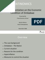 Economic Condition of Zimbabwe