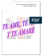 Te Ame, Te Amo Y Te Amare