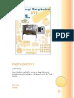 The Pasta Shoppe Case Study