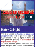 Power Point - Cómo recibir el Espíritu Santo