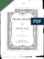 Sinding, Christian - Melodies Mignonnes Pour Piano, Op. 52