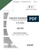 Soal UN Matematika SD 2013