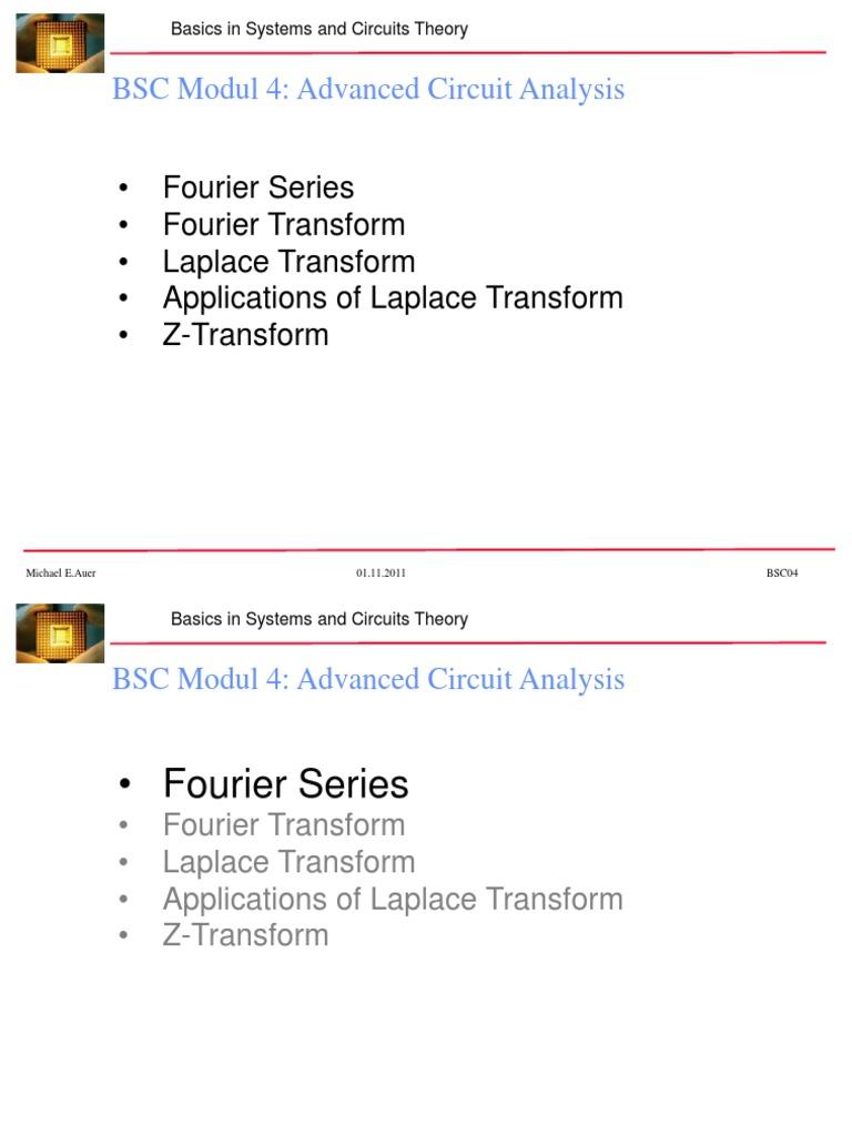 Advanced Circuit Analysis   Laplace Transform   Signal (Electrical
