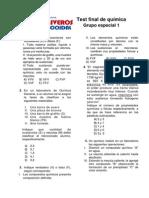 Test Final de Qumica UNI - 2014