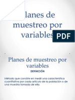 Planes de Muestreo Por Variables