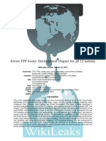 Environment Chapter of Secret Trans-Pacific Partnership Draft