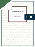 Examen HCD P-16