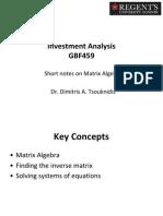 GBF459 - Matrix Algebra