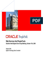 Oracle - Web Services and PeopleTools