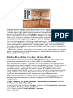 Kitchen Remodeling Questions Virginia Beach