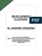 Draft Report on Development Clusters in Andhra Pradesh Prepared by Sista Vishwanath,Former OSD, Municipal Administration & Urban development Deptt., A P Secretariat