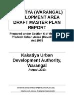KAKATIYA DEVELOPMENT AREA (WARANGAL)  DRAFT MASTER PLAN REPORT