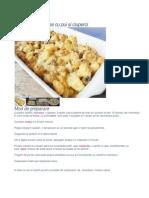 Cartofi Dauphinoise Cu Pui Si Ciuperci.