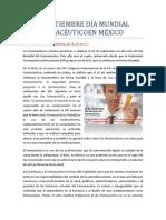 25 DE SEPTIEMBRE DÍA MUNDIAL DEL FARMACÉUTICO EN MÉXICO