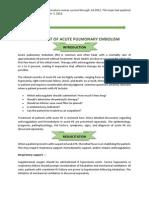 2013 Treatment of Acute Pulmonary Embolism