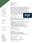 teacher cv example 1 1 page