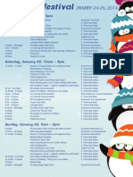 2014 Fire and Ice Event Schedule