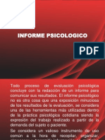 PRESENTACION INFORME PSICOLOGICO