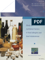 Study of Nutritional Factors in Food Allergies and Food Intolerance