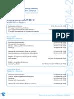 Calendario Escolar 2014-2 SUAyED