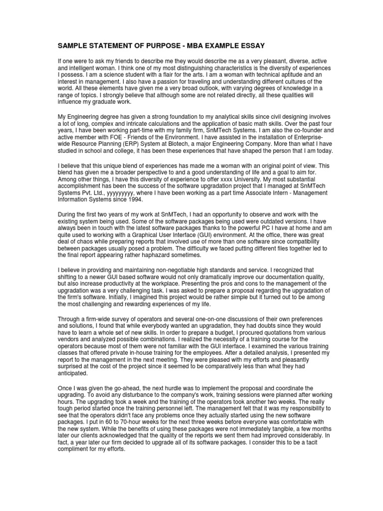 sample statement of purpose mba example essay graphical user sample statement of purpose mba example essay graphical user interfaces