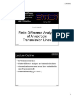 Lecture 4 -- FD Analysis of Anisotropic Transmission Lines