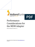 Performance Tuning MDM Adapter