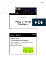 Lecture 7 -- Theory of Periodic Structures