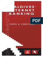 Maldives Internet Banking Terms and Conditions
