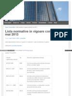 Lista Normative 2013d