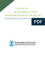 CSR SPENDING ESTIMATES
