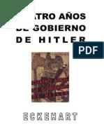 Dietrich Eckehart - Cuatro Años de Gobierno de Hitler
