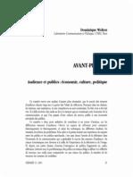 Audience Et Publics, Economie ,Culture, Politque
