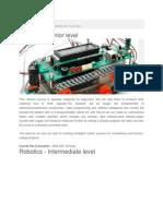 Educiticentre RoboticsComplete List of Courses