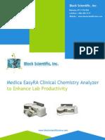 Medica Easyra Clinical Chemistry Analyzer to Enhance Lab Productivity
