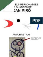 ELS PERSONATGES DE JOAN MIRÓ