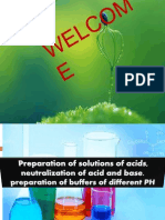Presentation PREPARATION OF SOLUTIONS OF ACIDS AND BASES