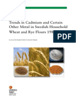 2013, National Food Agency, 16 - Trends in Cadmium and Certain Other Metal in Swedish Household Wheat and Rye Flours 1983-2009