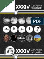 CATÁLOGO XXXIV Concurso Fotográfico Villa de IBI 2013