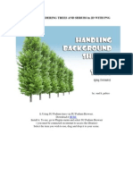 Tutorial for Rendering Trees and Shrubs in 2d With Png Formats