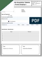 Demande D'Acquisition Tablette _Promo Employé
