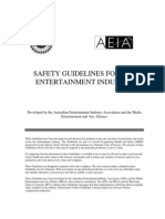 Safety Guidelines for the Entertainment Industry