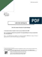 normes géotechniques