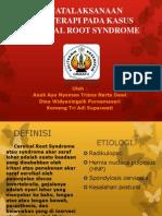 Penatalaksanaan Fisioterapi Pada Kasus Cervical Root Syndrome (Siap)