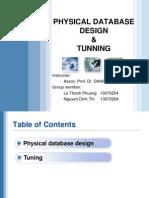 Present_physicaldatabase Design and Turning